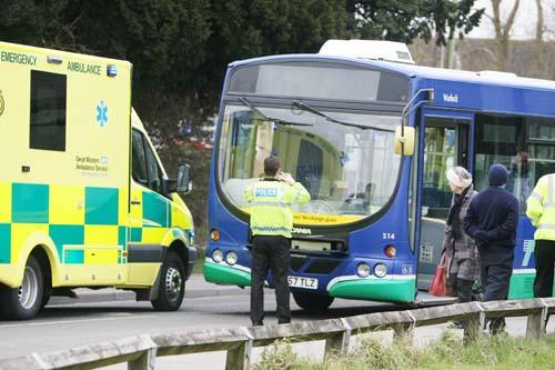 The scene of the accident in Haydon Wick last month