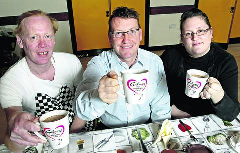 Simon Joliffe, Mathew Pearce and Victoria Barrett from Toothill Community Centre Lunch Cub