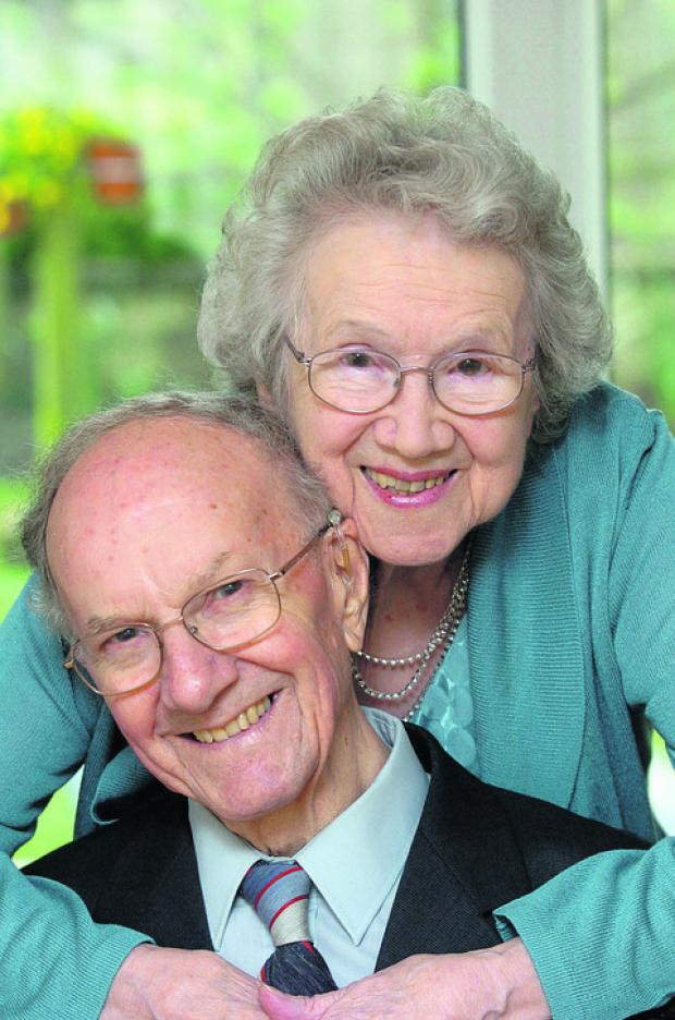 Joan and her husband Alan, celebrating their diamond wedding anniversary in May 2009