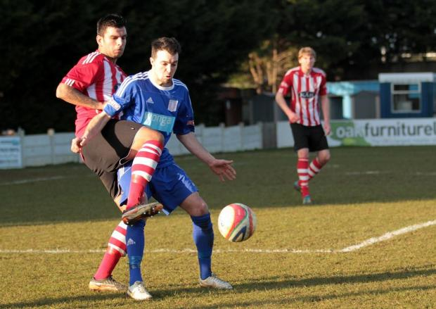 Ash Edenborough in action against Sholing