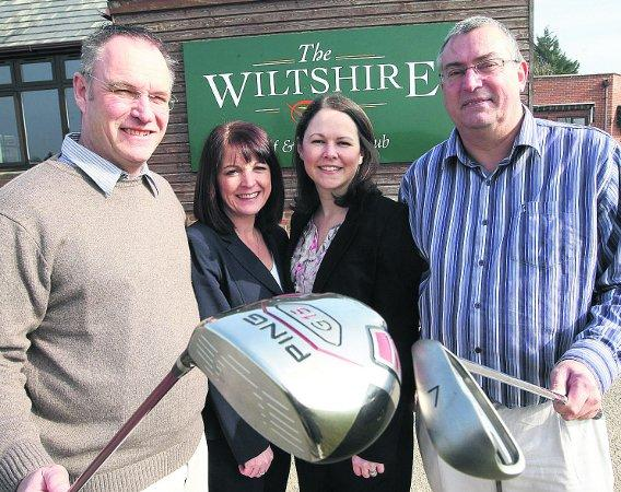 AMBITION New owners of The Wiltshire Golf club, Royal Wootton Bassett, from left, Haydn and Mandy Barrell, Ciné and Andrew Dunkley      							                                                      Picture: STUART HARRISON