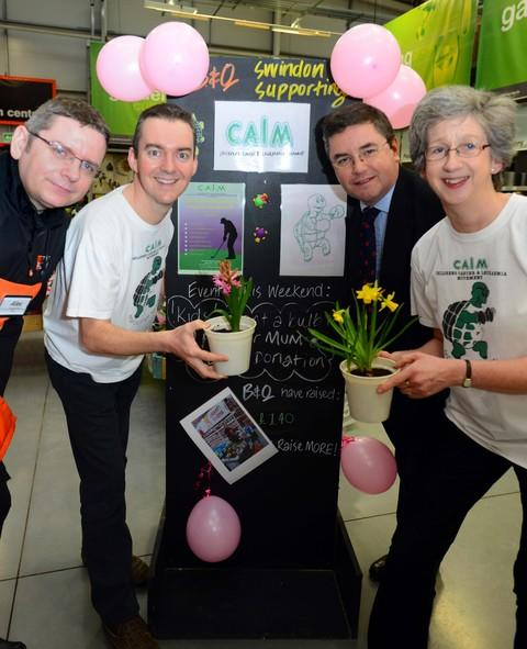 From left, Alex Shevill, Richard Crowley, MP Robert Buckland and Lucy Young