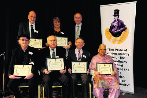 Pride of Swindon award winners