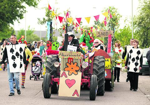 Last year's Royal Wootton Bassett carnival procession