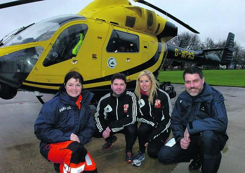 Devizes Air Ambulance paramedic Joanne Munday, with Adam Wainwright, Corrinne Davis and  Nigel Gilbert