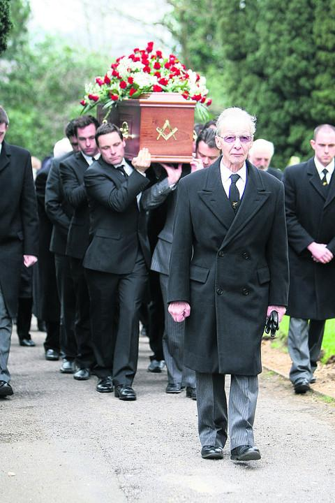 The funeral of Arthur Studt, which took place yesterday