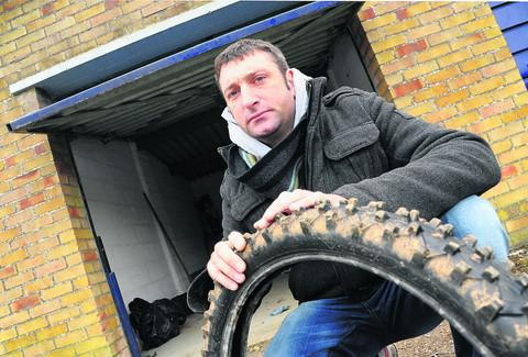 Richard Cowley's motocross bikes were stolen from his lock-up garage off Haydon View Road