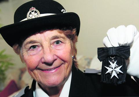 Ivy Sheppard has given 55 years of service to St John Ambulance and has been honoured for her work