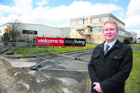 Lawrence Murphy, the economic projects manager at Forward Swindon, at the former Easy Living site on  Cheney Manor industrial, estate where the plant could be built