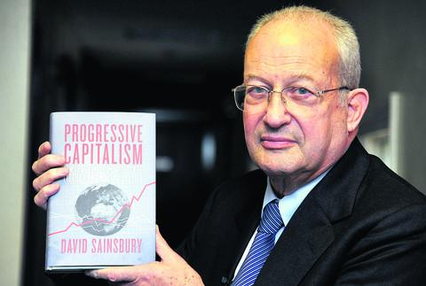 Lord Sainsbury at the Arts Centre for a talk on his new book