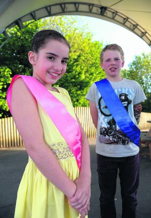 YOUNGSTERS Aaron Pring and Olivia O'Brien have been crowned this year's Wroughton Carnival Prince and Princess.