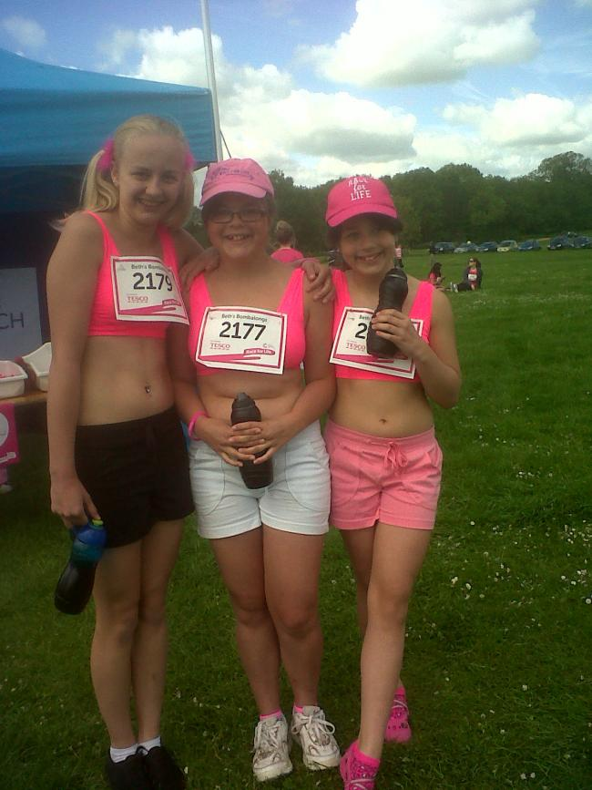 Chrystal, me and my sister Aimee at the Race For Life!