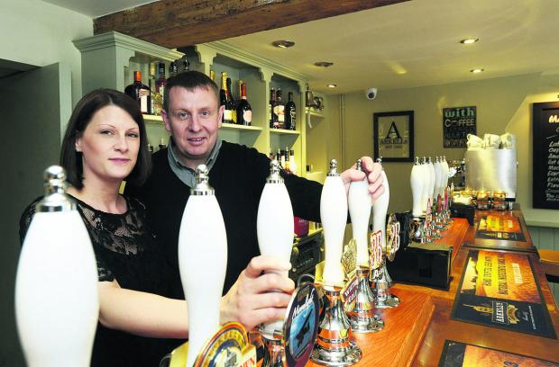 Swindon Advertiser: Darren and VIcky Turner, the new landlords of The Plough in Old Town