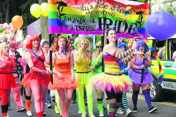 Swindon Advertiser: Last year's Swindon Pride parade