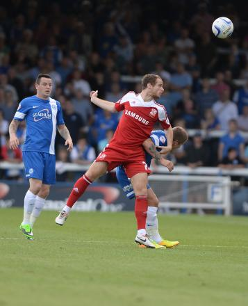 Ryan Harley scored the opening goal for Town at Crewe.