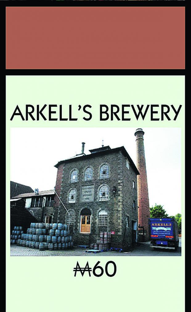 Swindon Advertiser: Arkells brewery at Kingsdown will feature on the Swindon Monopoly board