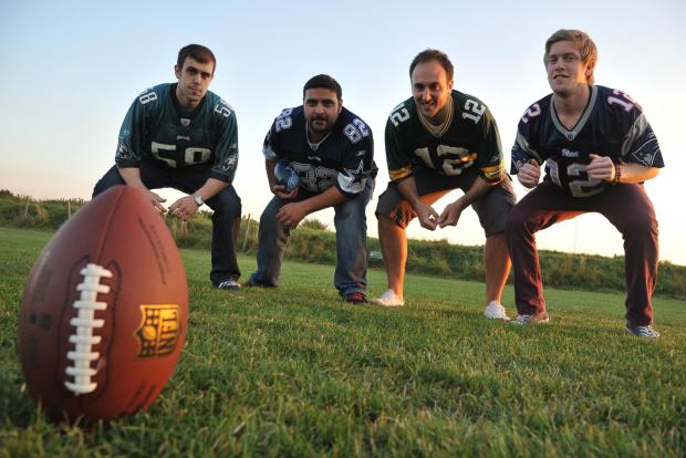 Storm players Dan Thorne, Dan Pour, Sam Mendoza and Sean Harper