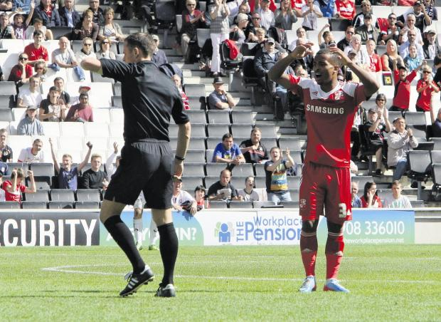 Swindon Advertiser: Swindon Town will appeal Nathan Byrne's red card
