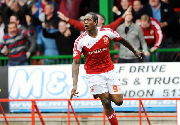 Swindon Town striker Nile Ranger