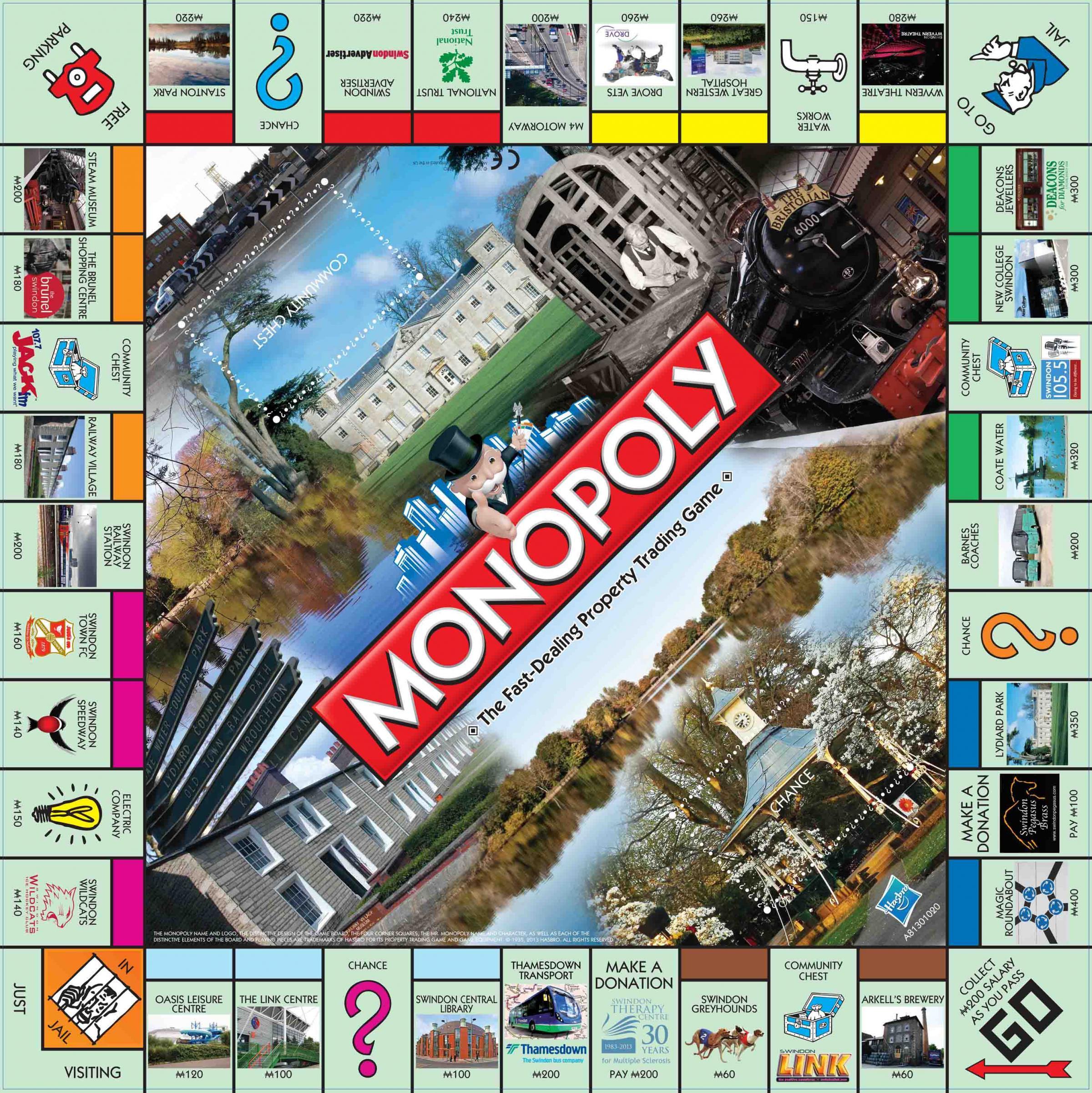 Bristol Monopoly Board Game