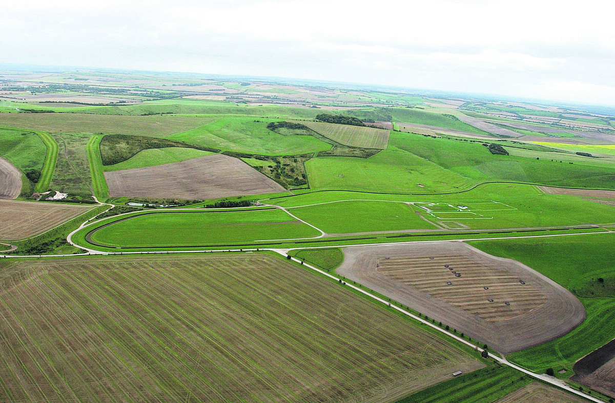 Barbury Castle Estate, beneath the Ridgeway, where a knife blade and medieval coinshave been found in the past