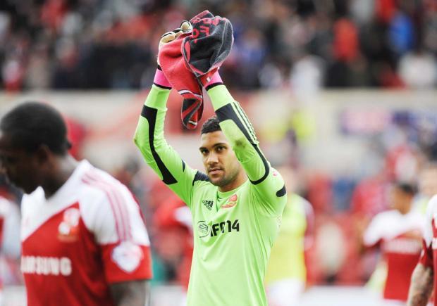 Swindon Town goalkeeper Wes Foderingham
