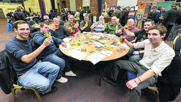 Real ale enthusiasts enjoy the CAMRA Beer festival