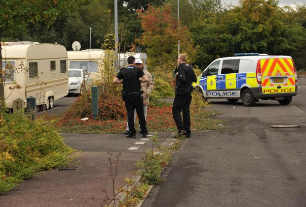 Police monitor travellers at Groundwell last year