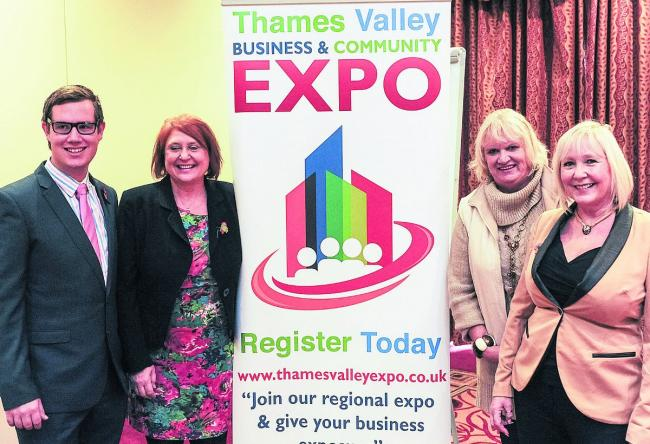 From left, Alec Jones-Hall, and Allison Dodd,  directors of Thames Valley Expo, Mary Flavelle, who is to speak at the meeting, Julie Edensor a drector of Thames Valley Expo       Picture: Alex Skennerton