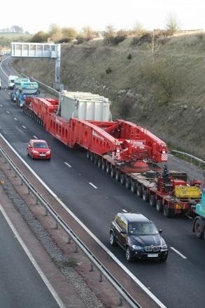 Abnormal loads will pass through the county on Wednesday and Thursday this week