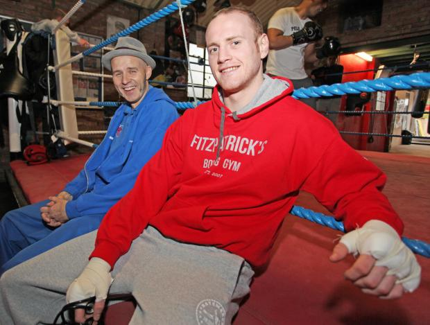 Swindon trainer Paddy Fitzpatrick with his boxer George Groves
