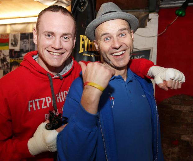 Paddy Fitzpatrick, right, with George Groves