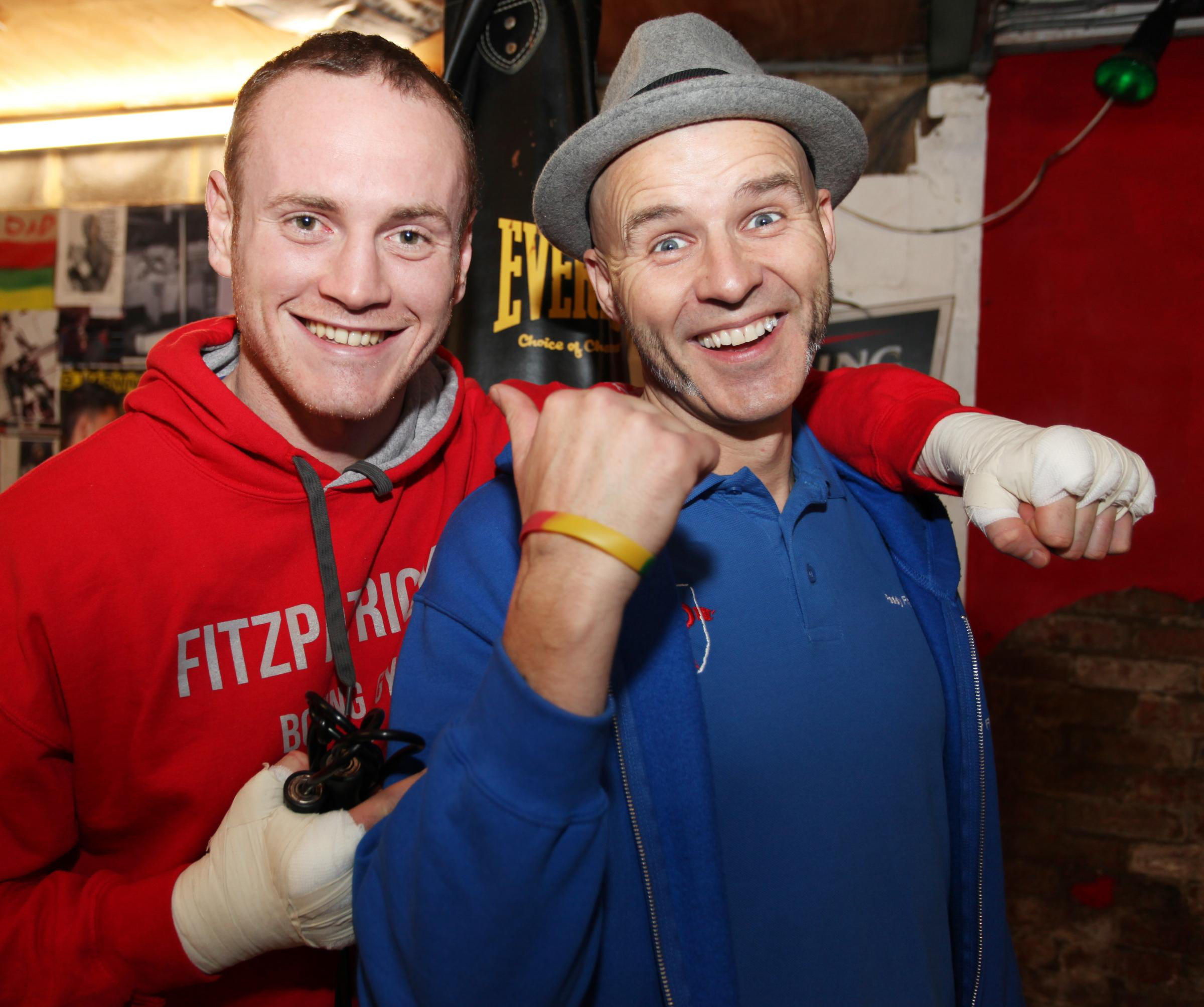 Swindon trainer Paddy Fitzpatrick, right, with George Groves