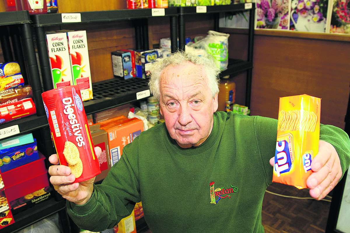 Patsy Moloney, the chairman of Christmas Care, is appealing for more food to be donated to feed the homeless this Christmas