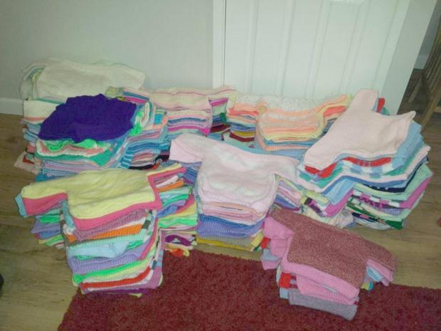 The Syria-bound pile of jumpers made by Doris