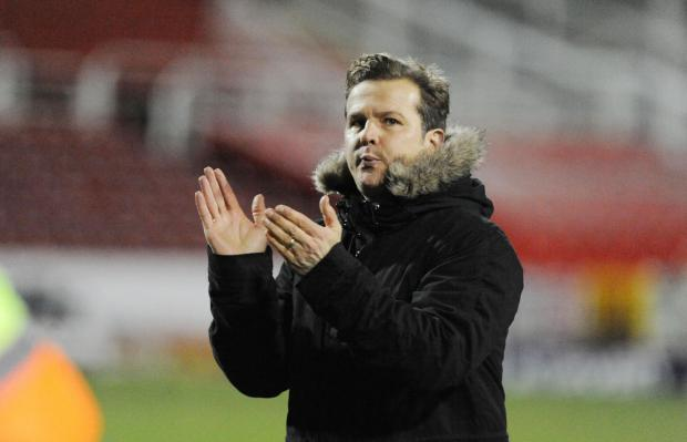 Swindon Town manager Mark Cooper