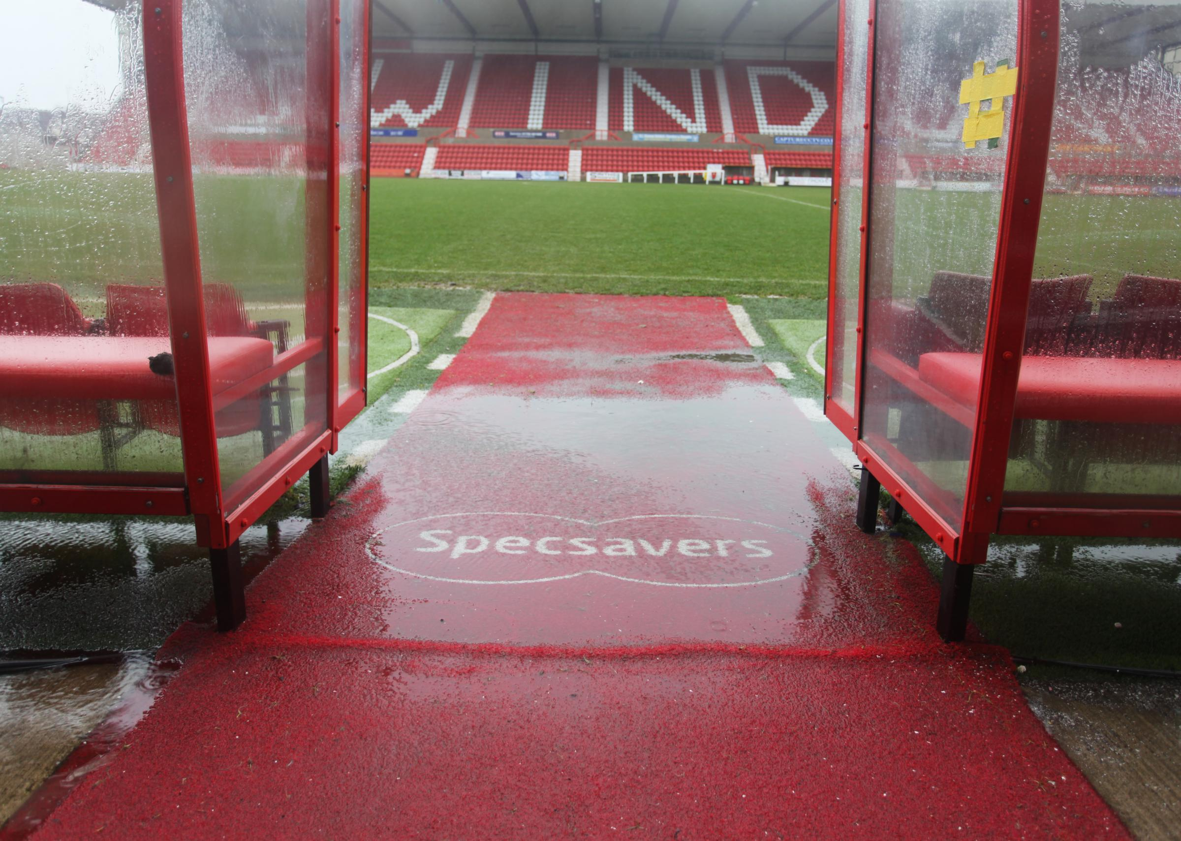 Town's game with Crawley was called off