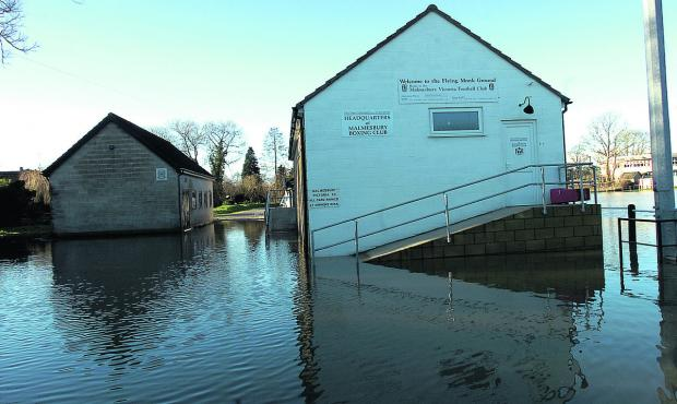 Malmesbury are still paying the damage caused by the New Year flooding