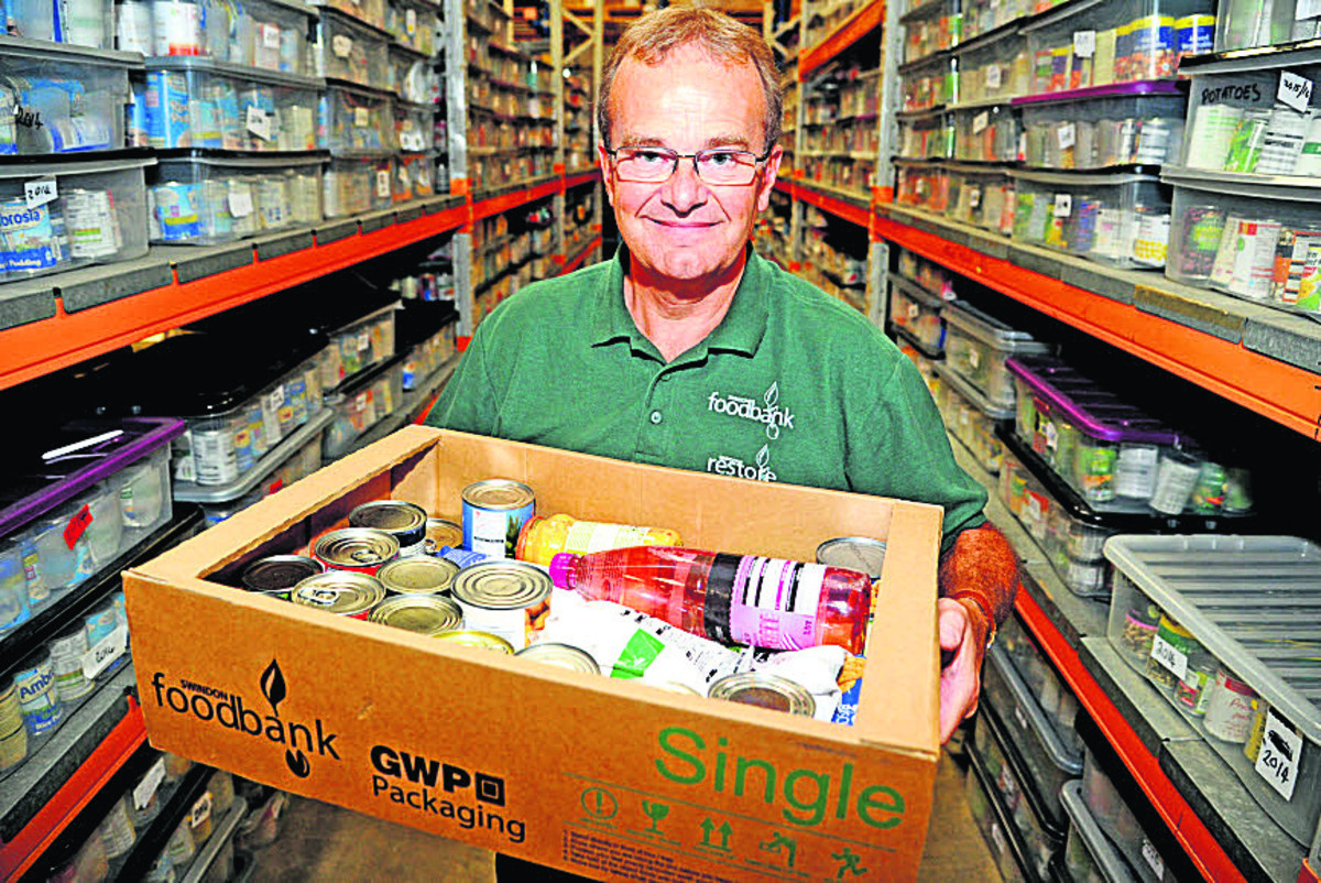 Project manager David Hartridge at Swindon Foodbank