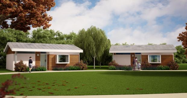 An artist's impression of the Prospect lodges