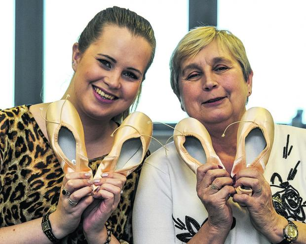 Mother and daughter Maxime and Cynthia Bell, of Pointe Perfection, one of 40 small business that have done well over the past six months