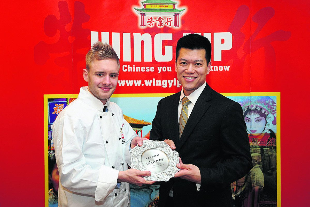 Joe Vinten above who won Young Chef Of The Year for Oriental cuisine