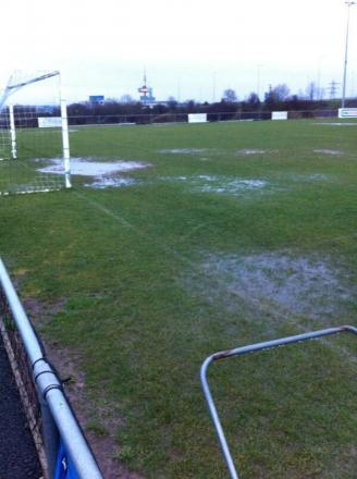 Rain has forced all this evening's local football to be called off