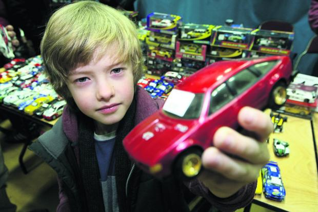 Ben Underwood, seven, looks at some of the cars on show. Picture: STUART HARRISON