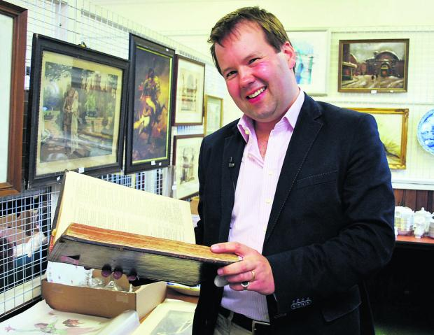 Antiques expert Thomas Plant is coming to town this month