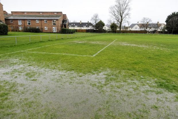 The waterlogged Southbrook Rec