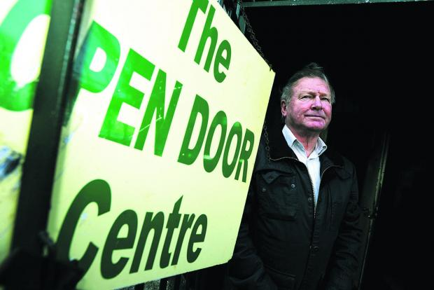 Chairman Gerry Meale  outside the Open Door Centre. Picture: THOMAS KELSEY