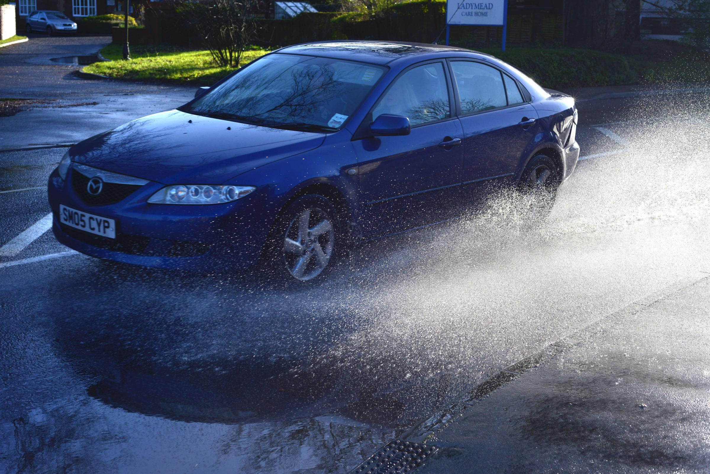 Flooding causing misery for drivers around the town