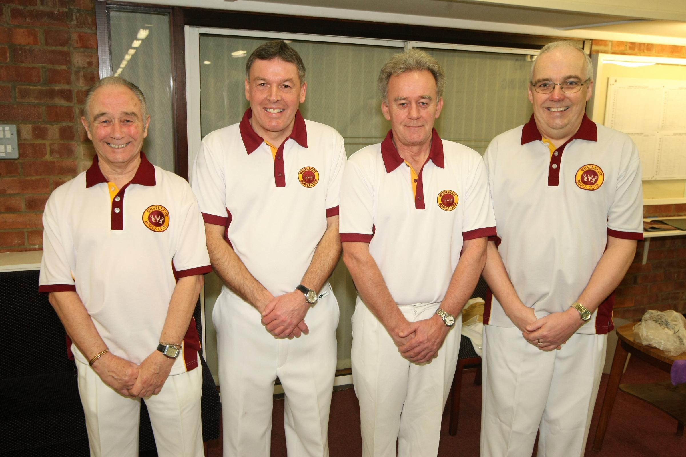 Westlecot bowlers (l-r) Dave Matthews, Kevin Lee, Steve