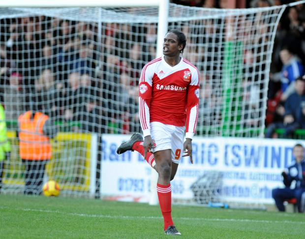 Nile Ranger celebrates scoring his seventh goal of the season against Peterborough on Saturday